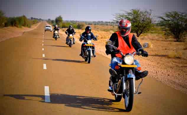 circuits et balade moto Rajasthan