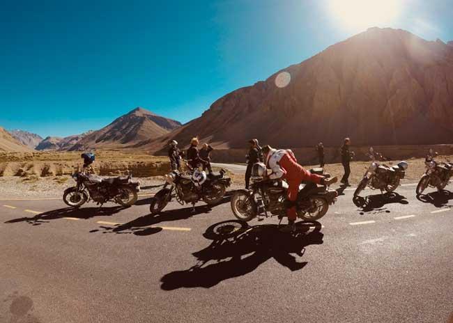 Riad moto Ladhak Inde