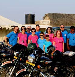 groupe motard Indian Rides Inde